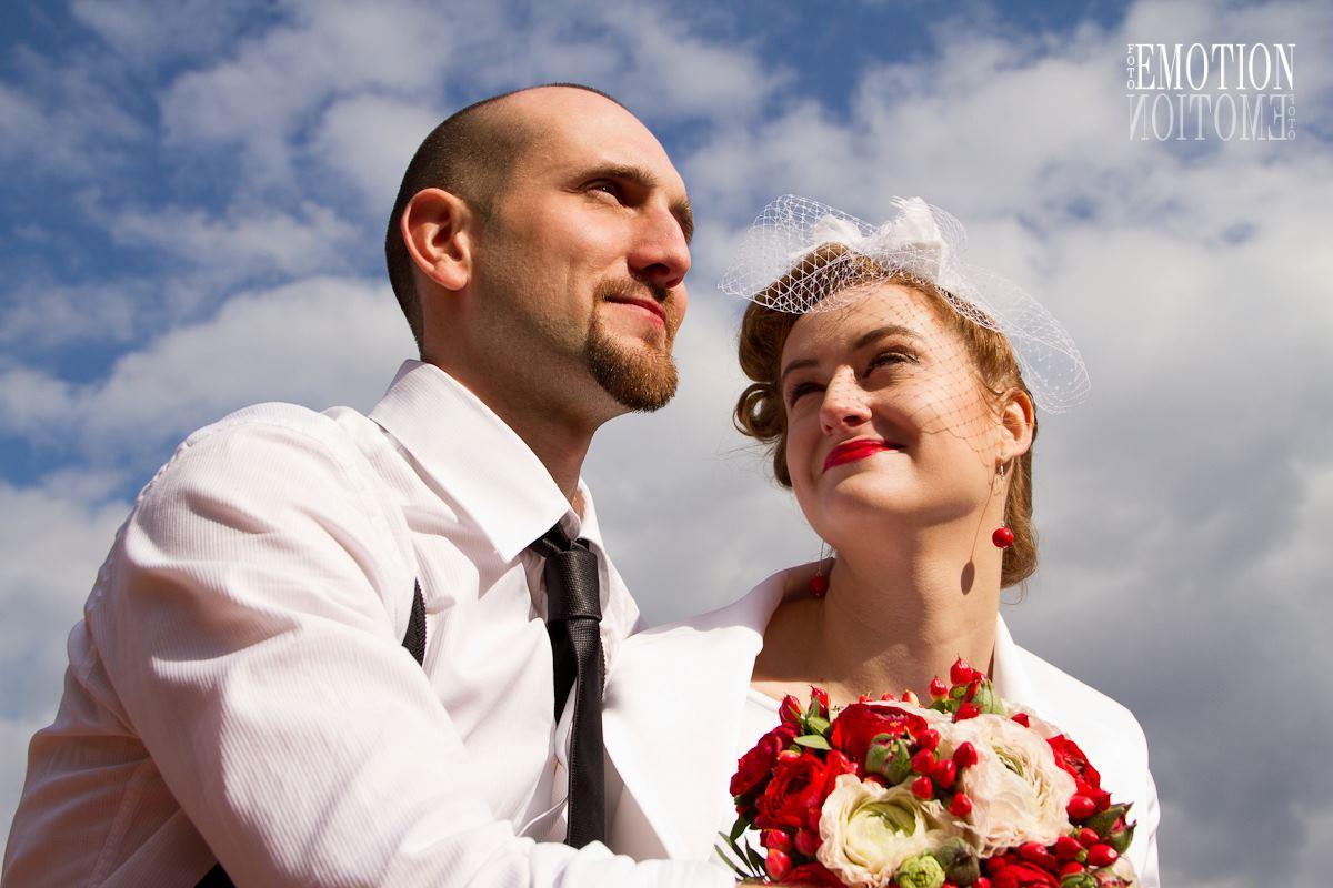 Svatební fotografie v retro stylu