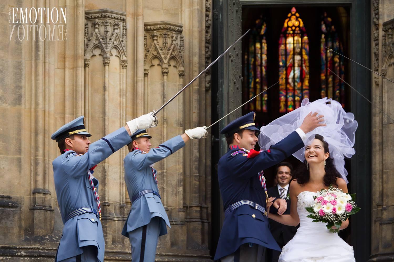 Svatební fotografie z Pražského hradu