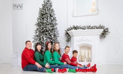 Vánoční focení rodiny probíhalo v luxusním ateliéru v Praze
